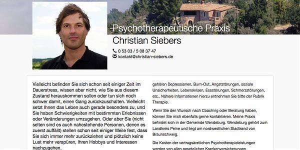 screenshot christian-siebers.de