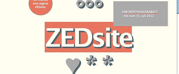 ZEDsite.de - Screenshot