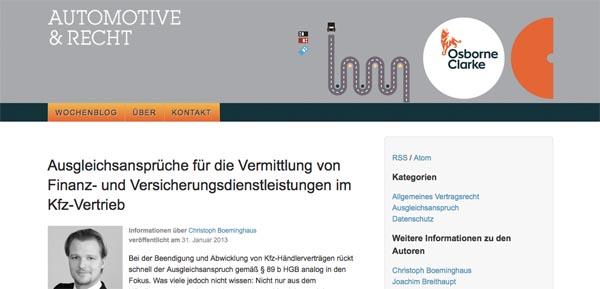 automotive-recht.de - Screenshot